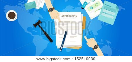 international arbitration mediation court global justice vector