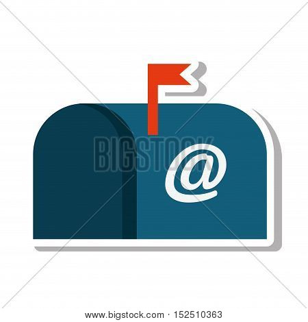 mailbox message isolated icon vector illustration design