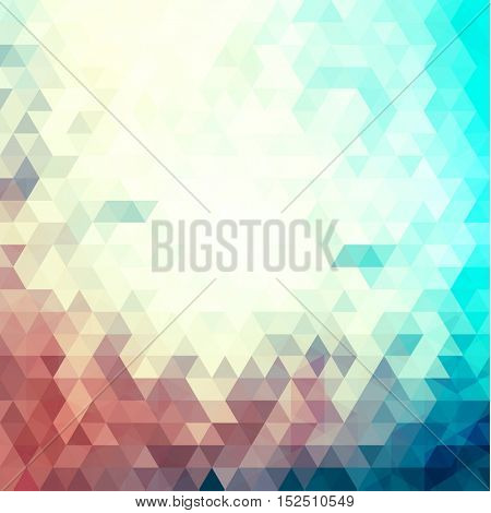Colorful mosaic geometric triangles background - eps 10