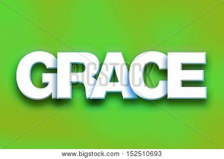 Grace Concept Colorful Word Art