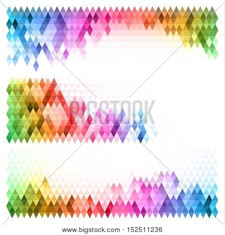 Abstract mosaic colorful backgrounds set