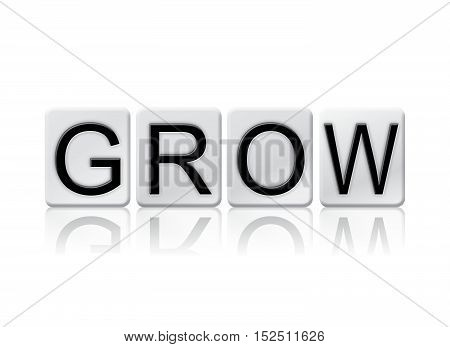 Grow Isolated Tiled Letters Concept And Theme