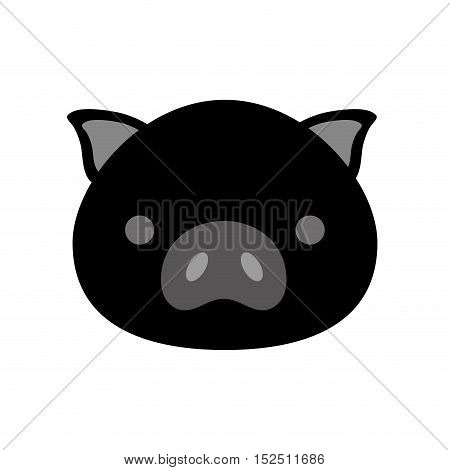 cute pig isolated icon vector illustration design