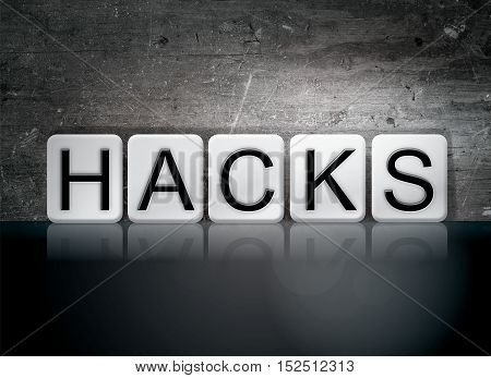 Hacks Tiled Letters Concept And Theme