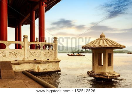 Scenic West Lake in Hangzhou in China