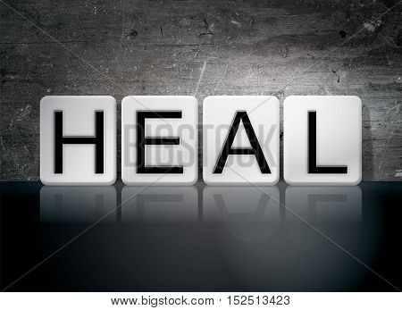 Heal Tiled Letters Concept And Theme