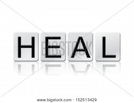 Heal Isolated Tiled Letters Concept And Theme