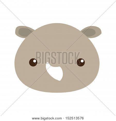 cute rhino isolated icon vector illustration design