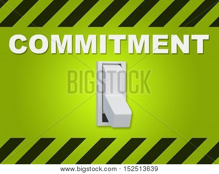 Commitment - Human Relation Concept