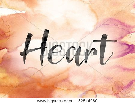 Heart Colorful Watercolor And Ink Word Art