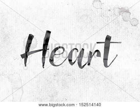 Heart Concept Painted In Ink