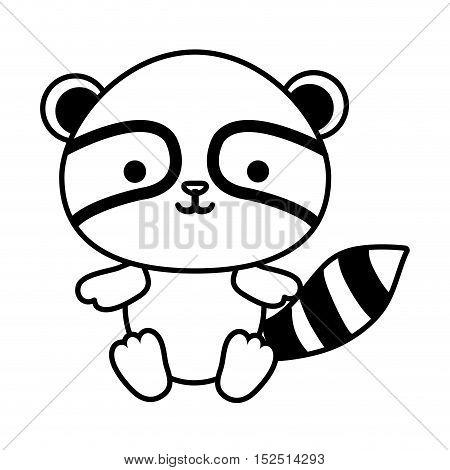 cute raccoon isolated icon vector illustration design