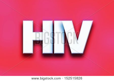 Hiv Concept Colorful Word Art