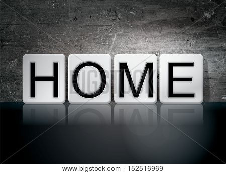Home Tiled Letters Concept And Theme