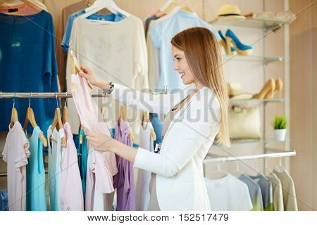 Shopper in boutique