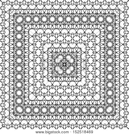 Coloring Book Page For Adult, Anti Stress Coloring And Other Decoration. Pattern Design. Abstract Ba