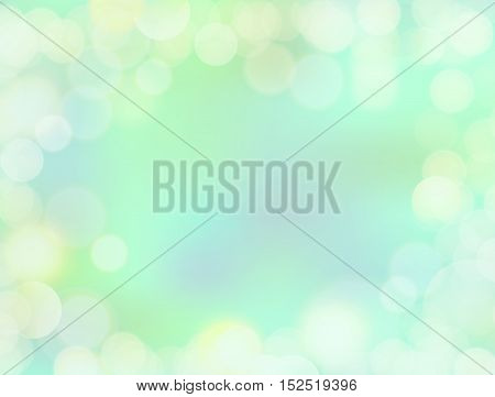 Gradient Mint Green Blank Paper Background With Bokeh Border