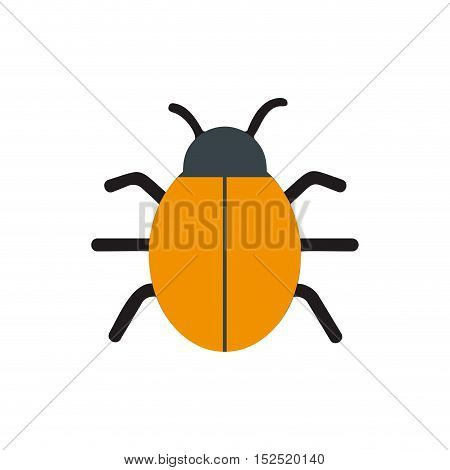 bug virus alert isolated icon vector illustration design