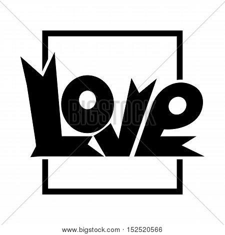 Love the design of the inscription in square frame. Vector illustration