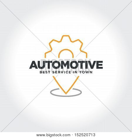 Automotive or Automobile Service Location Technology. Vector illustration