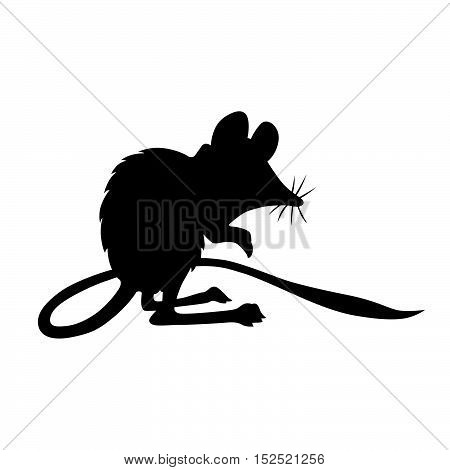 Jerboa-marsupial ( shade picture ) on white