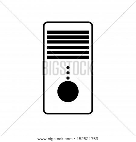 tower cpu isolated icon vector illustration design