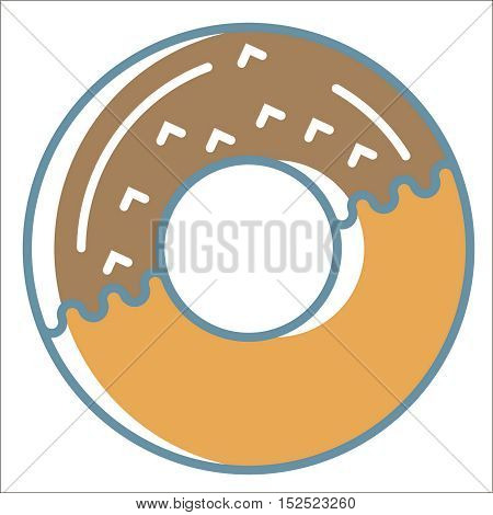 Donut line icon. Thin line vector Donut line icon peefect for web and mobile applications, can be used as logo, pictogram, icon, infographic element. Vector Illustration.