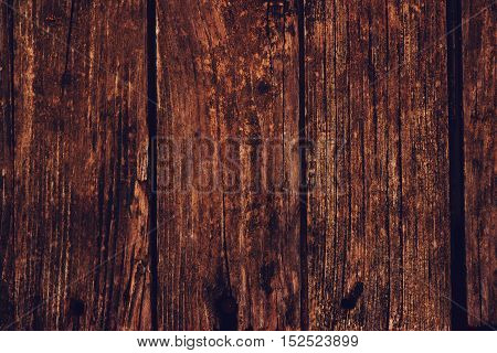 Rustic weathered wooden flooring surface texture as background