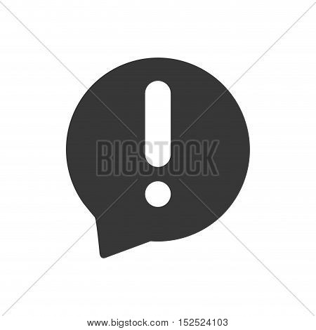 speech bubble with alert symbol isolated icon