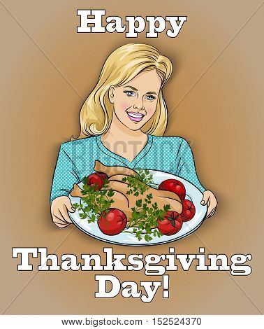 Happy Thanksgiving Day Vector Illustration.