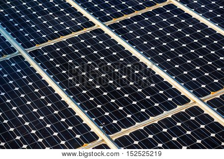 Solar panels surface technology for renewable energy and power industry