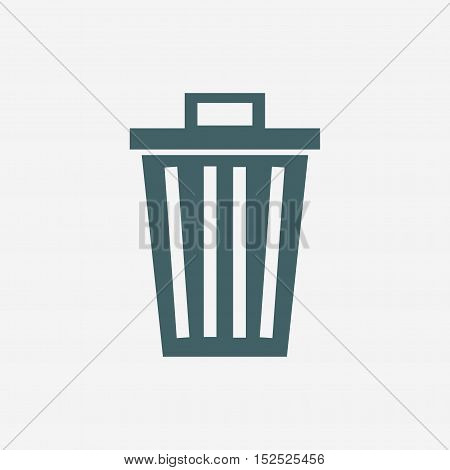 trash can vector icon isolated on white background