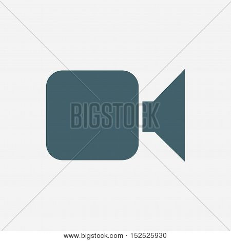 video camera vector icon isolated on white background
