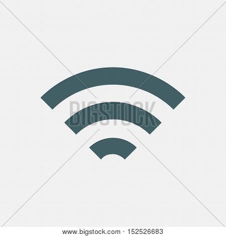 wifi vector icon isolated on white background