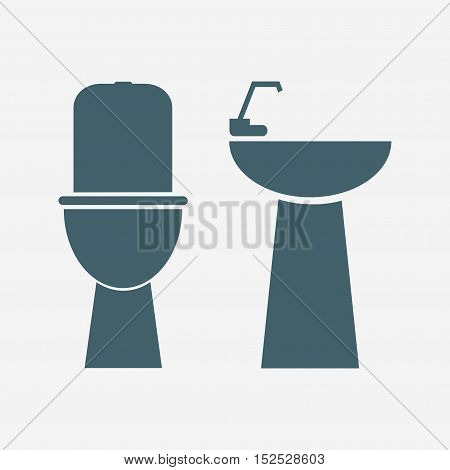 sink vector icon isolated on white background