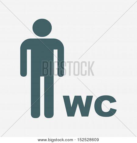 men icon. toilet vector icon isolated on white background