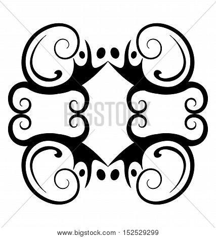 Graphic elements - Symmetrical four sides vignette. Eps 10