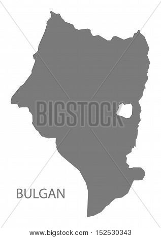 Bulgan Mongolia Map grey illustration high res