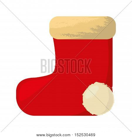 merry christmas socks isolated icon vector illustration design