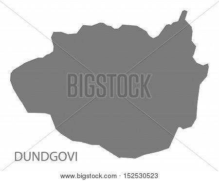 Dundgovi Mongolia Map grey illustration high res