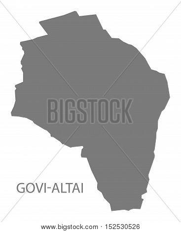 Govi - Altai Mongolia Map grey illustration high res