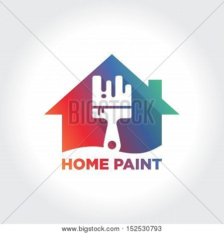 Home Painting Service. Creative Painting Concept for your business