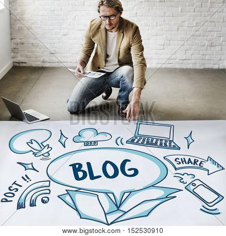 Blog Ideas Outside Box Sketch Concept