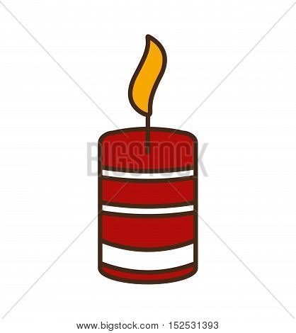 merry christmas candle isolated icon vector illustration design