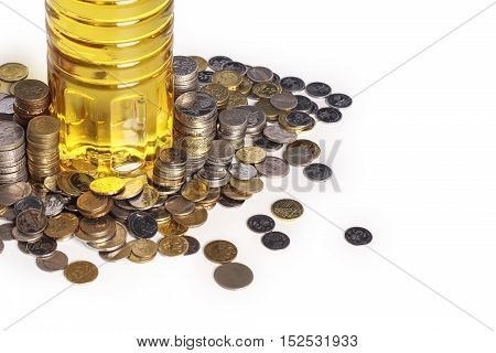 Coins And Cooking Oil