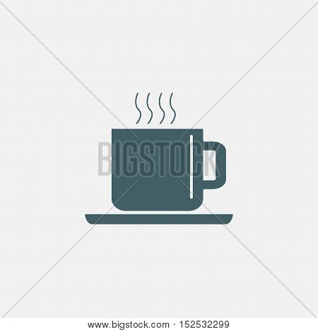 cup of hot coffee icon isolated on white background