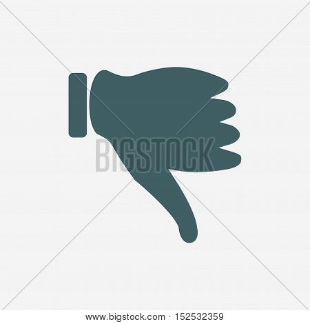 thumb down vector icon isolated on white background