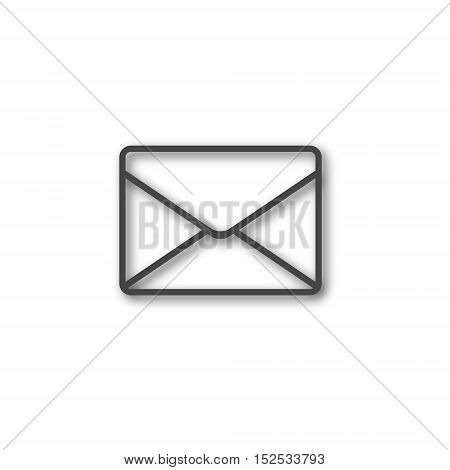 Simple line Email icon on white background
