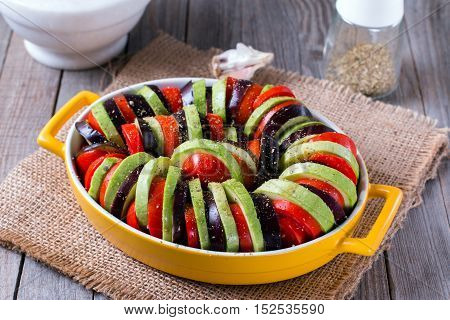 Ratatouille of vegetables - traditional French Provencal vegetable dish