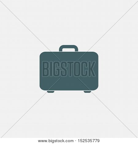 suitcase vector icon isolated on white bacground